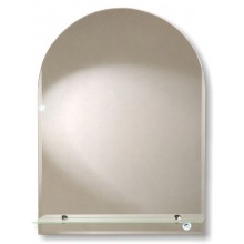 Зеркало Стандарт арка с полочкой 30х40