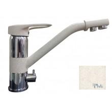 Смеситель GranFest (2624-1) с краном для питьевой воды, цвет: Песочный 302