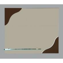 Зеркало Ливадия с полочкой 60х50