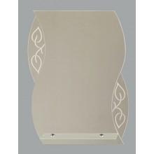 Зеркало Агата с полочкой 53х68