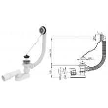 Сифон для ванны, выпуск металлический A501 (AlcaPlast)