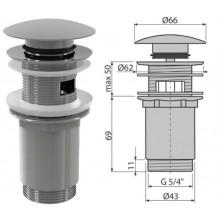 """Донный клапан для умывальника click/clack,5/4"""" большая заглушка A392 (AlcaPlast)"""