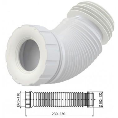 Отвод для унитаза гофрированный A97SN (AlcaPlast)