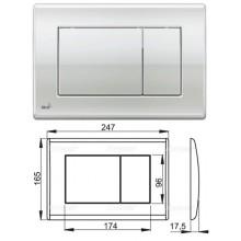 Клавиша для систем инсталляции (хром-глянец) M271 (AlcaPlast)