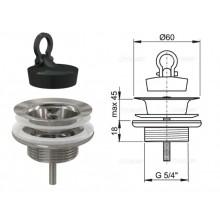 Донный клапан для умывальника (метал) A439 (AlcaPlast)