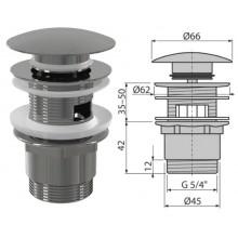 """Донный клапан для умывальника click/clack,5/4"""" большая заглушка A390 (AlcaPlast)"""