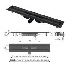 Водоотводящий желоб APZ101 BLACK Low - 750 (AlcaPlast)