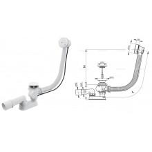 Сифон для ванны, автомат A51BM-80 (белый) (AlcaPlast)