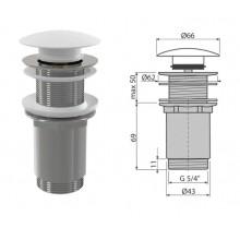 Донный клапан для умывальника без перелива A395B (AlcaPlast)
