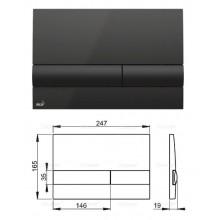 Клавиша для систем инсталляции (черная) M1718 (AlcaPlast)