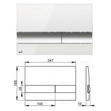 Клавиша для систем инсталляции (белый/хром) M1720-1 (AlcaPlast)
