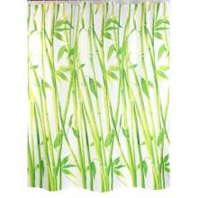 """Шторка для ванной """"Стебли бамбука"""" (арт.Х-085) 180х200 без колец"""