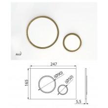 Клавиша для систем инсталляции (белый-золотой) M775 (AlcaPlast)