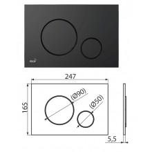 Клавиша для систем инсталляции (черный-мат) M678 (AlcaPlast)