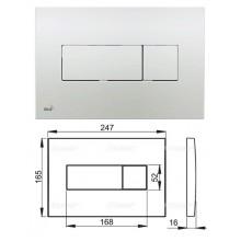 Клавиша для систем инсталляции (хром-глянец) M371 (AlcaPlast)