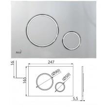 Клавиша для систем инсталляции (хром-мат/хром-глянец) M772 (AlcaPlast)