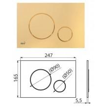 Клавиша для систем инсталляции (золотой) M675 (AlcaPlast)
