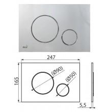 Клавиша для систем инсталляции (хром-мат) M672 (AlcaPlast)