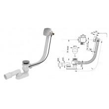 Сифон для ванны, автомат с напуском воды A564KM1-100 (AlcaPlast)