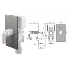 Сифон для стиральной машины с разрыв.клапаном (под штукатурку) APS3P (AlcaPlast)