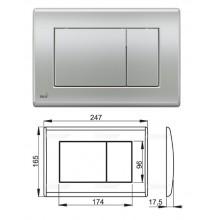 Клавиша для систем инсталляции (хром-мат) M272 (AlcaPlast)