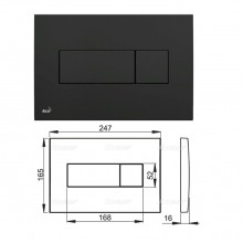Клавиша для систем инсталляции (черная) M378 (AlcaPlast)