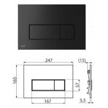 Клавиша для систем инсталляции (черный-мат) M578 (AlcaPlast)