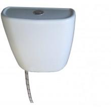 Бачок пластиковый для унитаза ЦОП (без полки) хром кнопка,НИЖНЕЕ подкл.воды