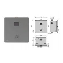 Устройство автоматического смыва для писсуара. металл, 12В ASP4-KT (AlcaPlast)