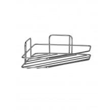 Полка угловая ZOLLEN STAINLESS-1 (арт.CR802651) трапеция, НЕРЖАВЕЮЩАЯ сталь 304